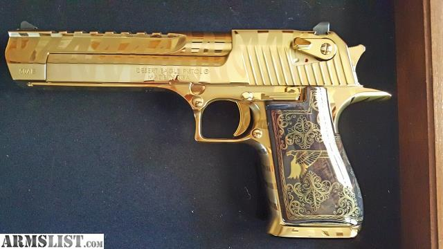 Armslist For Sale New Desert Eagle 50 Ae Titanium Gold W Tiger