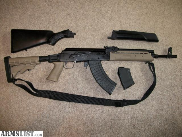 ARMSLIST - For Sale: Russian Saiga 7.62x39 AK47 variant- two stocks