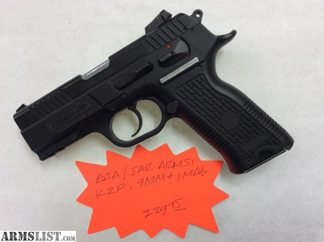 For Sale: EAA/Sar Arms K2P, 9mm, 1 Mag