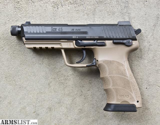 ARMSLIST - For Sale: H&K HK45 Tactical (V1) DA/SA