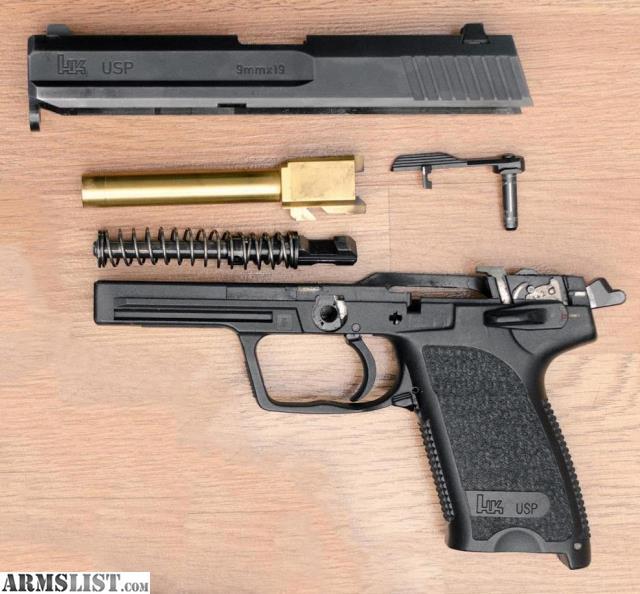 ARMSLIST - For Sale/Trade: USP 9mm w/ Match Trigger + TiN Barrel