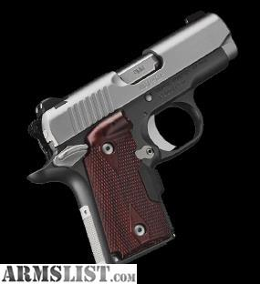 ARMSLIST - For Sale: NEW Kimber Micro 9 CDP W/Crimson Trace Laser Grips