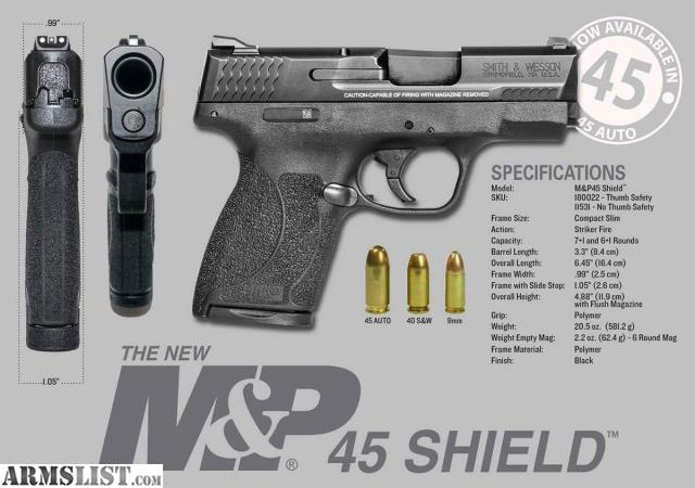 Smith And Wesson M&p Shield 45 Average Cost | CINEMAS 93