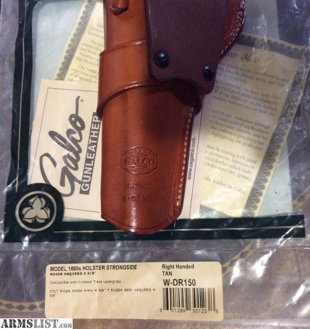 ARMSLIST - For Sale: Galco 1880's Strongside Ruger Vaquero