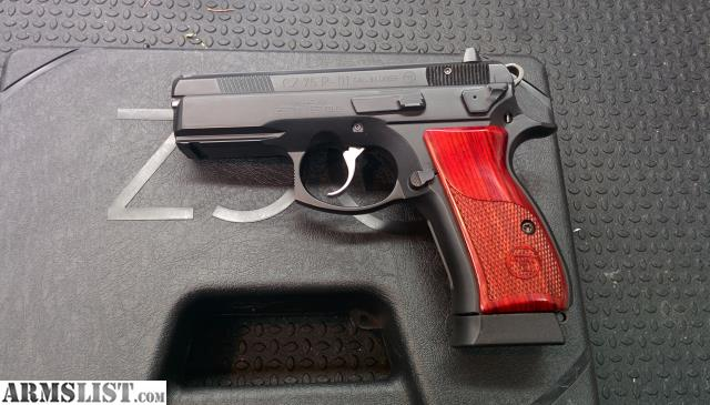 ARMSLIST - For Sale: CZ 75 P-01 compact with threaded barrel, wood