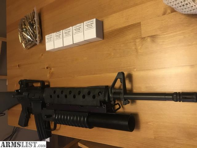 ARMSLIST - For Sale/Trade: Ar 15 with m203 style flare launcher