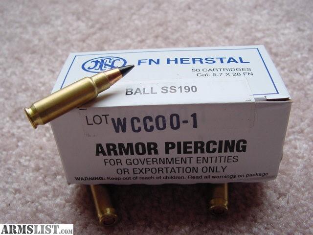 ARMSLIST - For Sale: FN SS190 5.7 Black Tip AP
