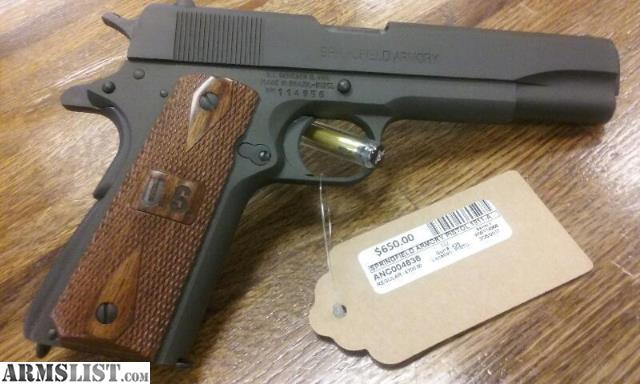 ARMSLIST - For Sale: Springfield armory 1911-a1 GI WWII edition 45acp