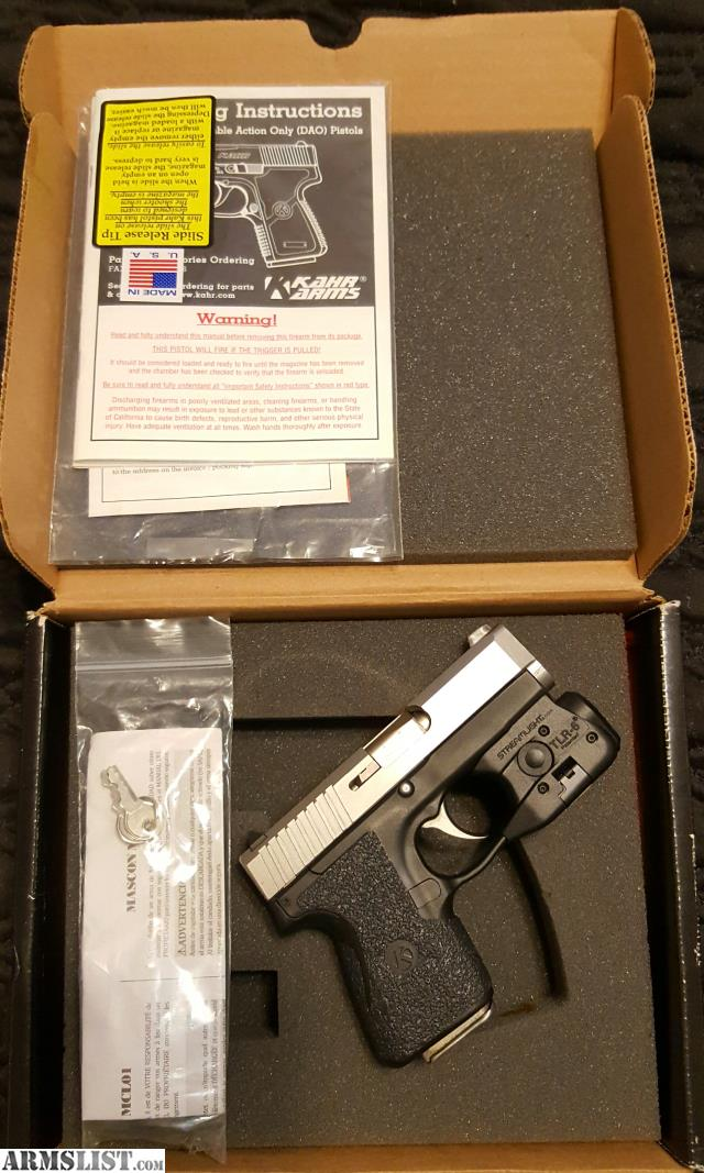 for sale kahr cm9 with streamlight tlr 6 laser light combo. Black Bedroom Furniture Sets. Home Design Ideas