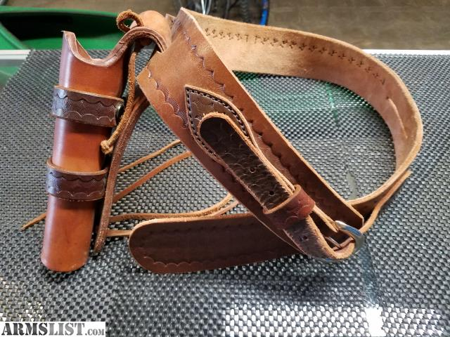 armslist for sale leather gun belt and holster
