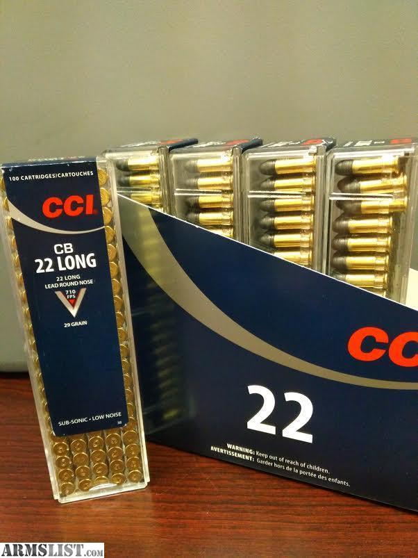Armslist For Sale Cci 22 Cb Long 29 Grain Lead Round Nose Box Of 100