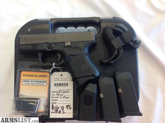 Armslist For Sale Glock 27 Gen 4 40 Cal Subcompact Pistol