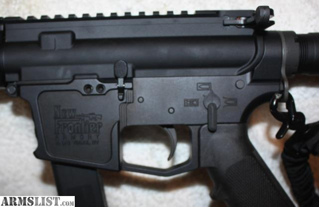 ARMSLIST - For Sale: New Frontier Armory AR15 Dedicated 9MM Semi