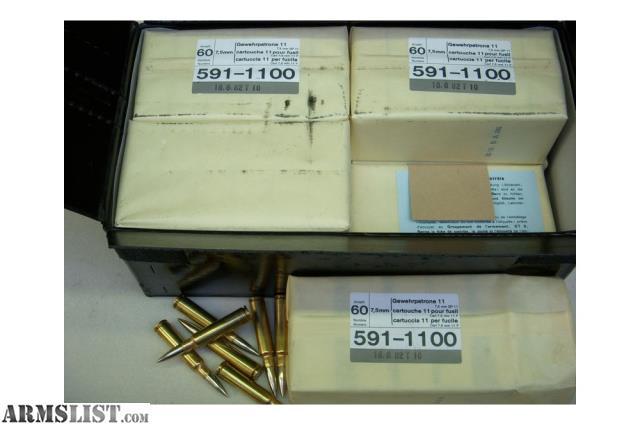 armslist for sale 7 5x55 swiss gp 11 ammo 450 rounds