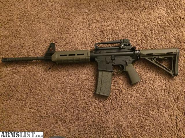 Columbus: Moriarti Armaments AR15 With Magpul MOE Furniture. Anderson  Lower, 5.56 In OD Green   Comes With 30 Round Hexmag   Removable A2 Front  Sight And ...