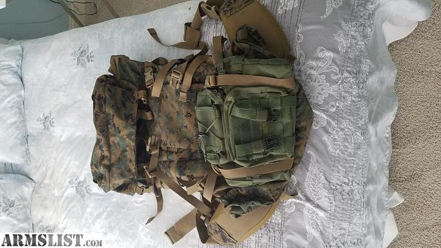 7dd373cbdbb USMC MarPat Gen 2 ILBE Main/Field Pack INCLUDE ONETIGRES BUT PACK Includes  Shoulder Straps, Hip Belt, Lid, and Radio Pouch NSN: 8465-01-515-8620