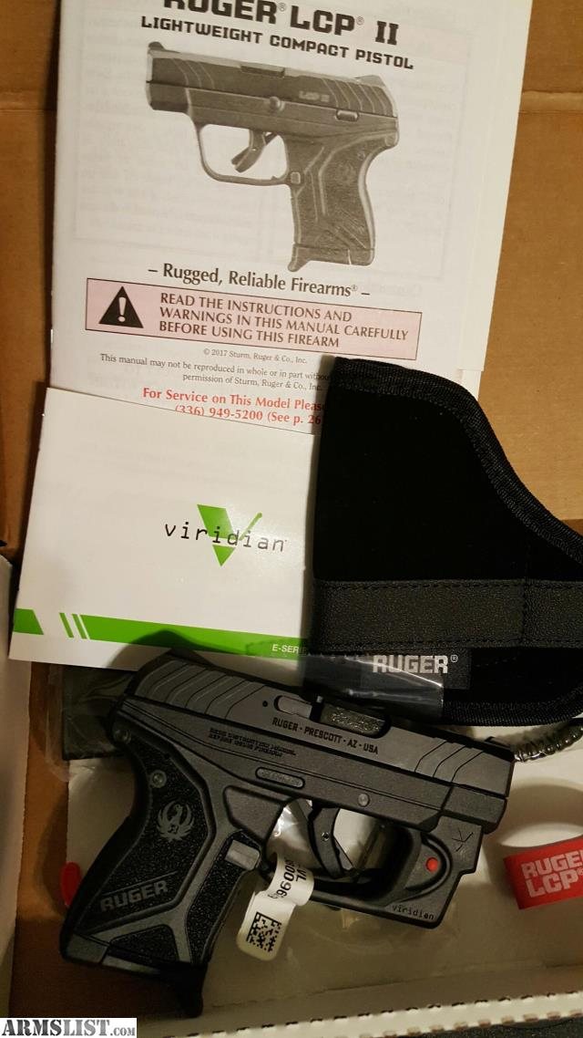 Armslist For Sale Sale Ruger Lcp Ii W Viridian Laser