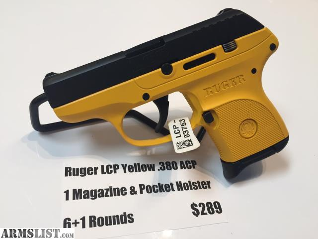 ARMSLIST - For Sale: NEW Ruger LCP  380 ACP Yellow & Black - 1