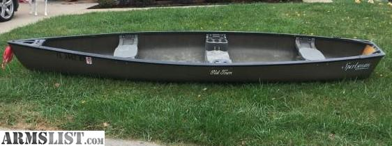 ARMSLIST - For Sale: Old Town Sportsman Square Stern Canoe 15 4'