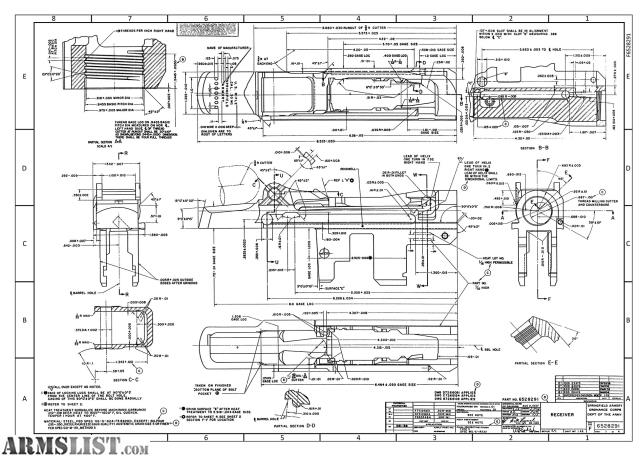 ARMSLIST - For Sale: M1 Garand Receiver Blueprints