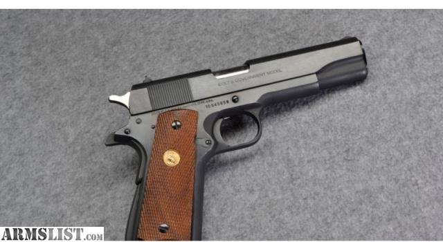 ARMSLIST - For Sale: Colt MK IV/Series 70 Government Model ...