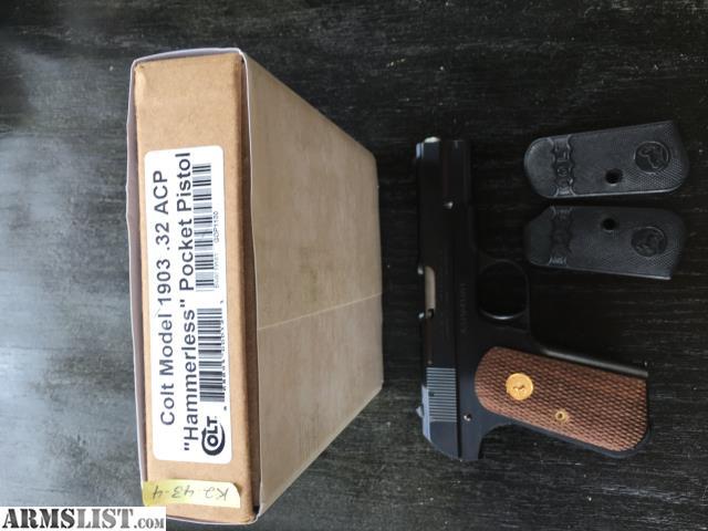 ARMSLIST - For Sale: Colt 1903