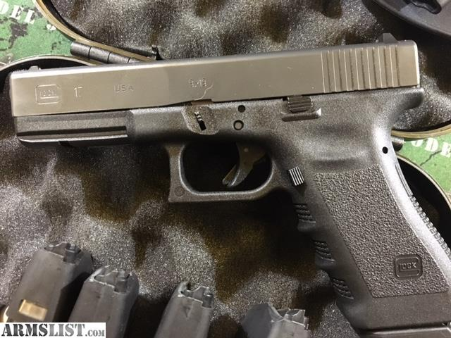 ARMSLIST - For Sale: Glock 17 9mm Gen 3 w/ 5 Magazines ...