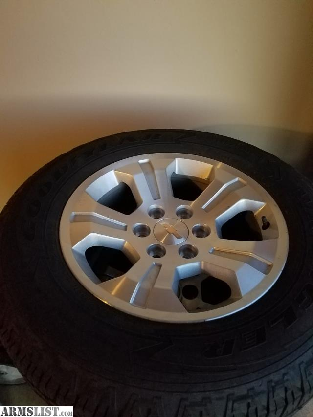 """ARMSLIST - For Sale/Trade: Goodyear Wrangler P265/65R18 with Z71 18"""" Rims"""