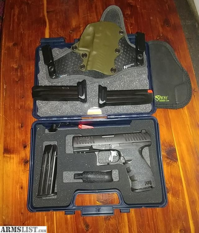 ARMSLIST - For Sale: Walther PPQ M1, 2 holsters, extended mags, Apex