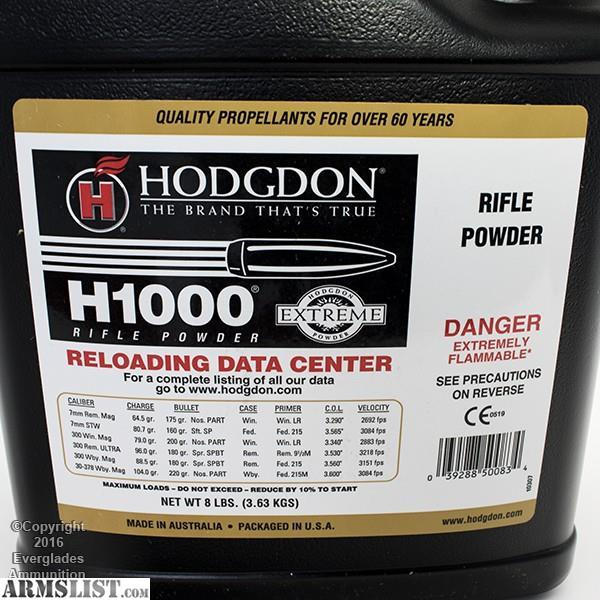 Armslist For Sale Hodgdon H1000 8lbs C