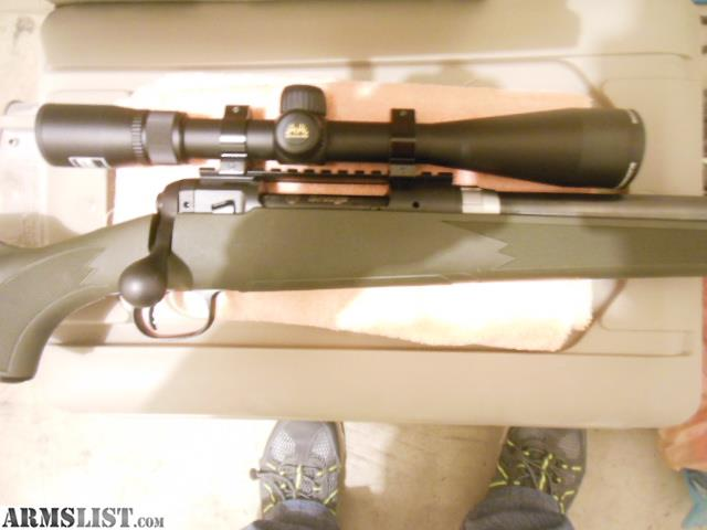 The Rifle Has A Pac Nor 20 Bull Barrel Accu Trigger Black Synthetic Stock And Nikon Buckmasters