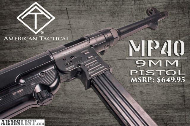 "West 40 Auto Sales >> ARMSLIST - For Sale: ATI GSG MP-40 10.8"" 9mm 30RD-NIB"