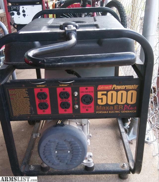 Coleman powermate Maxa 5000 er plus manual