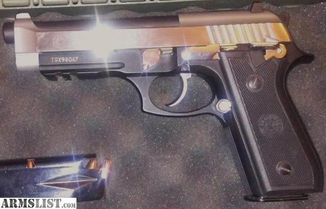 ARMSLIST - For Sale: Taurus PT92AFS-Two Tone & Yaqui Holster+ Grips