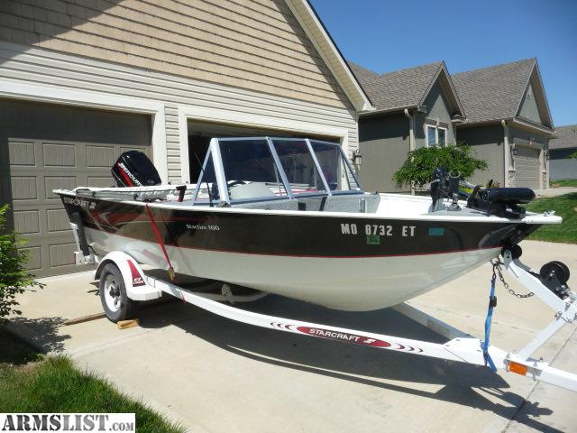 Armslist for sale trade 2001 160dc w 60hp motor for Kansas city star fishing report