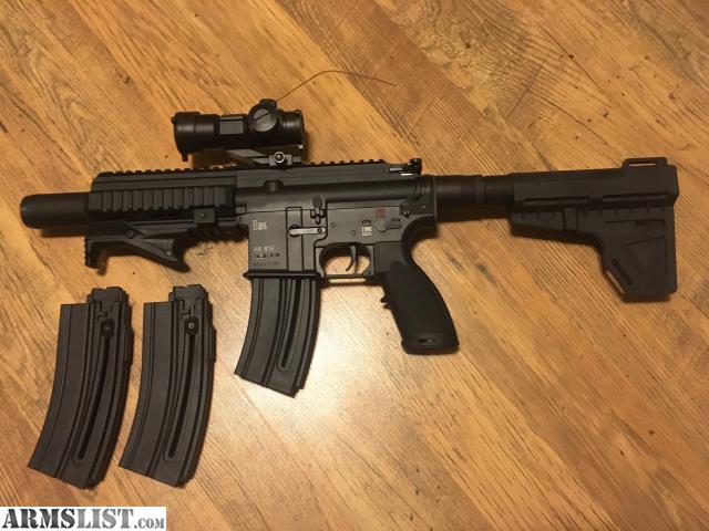 ARMSLIST - For Sale/Trade: HK 416 ( 22 LR) Pistol w/ Shockwave Brace
