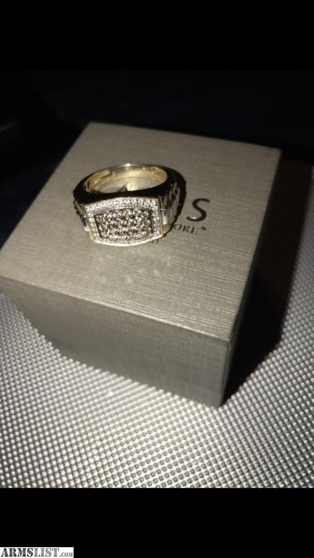 ARMSLIST For Trade Real gold and diamond men s ring from zales for trade