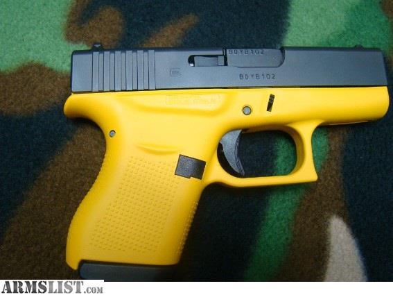 armslist for sale glock 43 blackyellow pistol 9mm