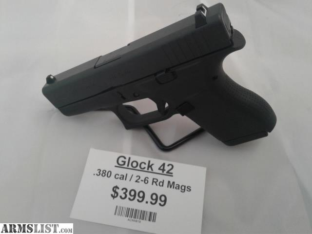 ARMSLIST - For Sale: NEW: Glock 42  380 ACP 6+1 Rounds
