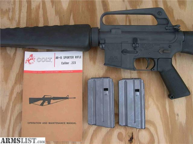 ARMSLIST - For Sale: Colt SP1 AR-15 Rifle 20