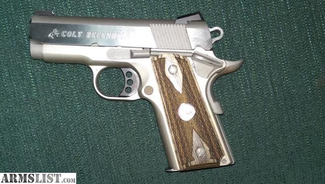 ARMSLIST - For Sale: COLT DEFENDER 1911 STAINLESS, 9MM, HOGUE GRIPS