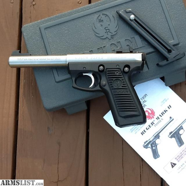 RUGER 22 45 Stainless Steel Bull Barrel Never Fired In The Box All Paperwork This Is Target Model Ftf Sale Tampa No Shipping