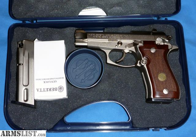 ARMSLIST - For Sale: Beretta 84FS Cheetah  380 Nickel for sale