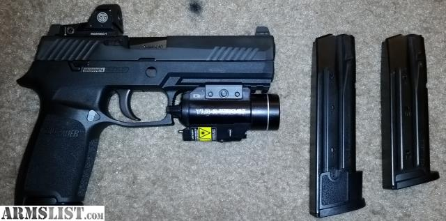 ARMSLIST - For Sale: SIG P320 RX (Full Size, 9mm) + Romeo1 +