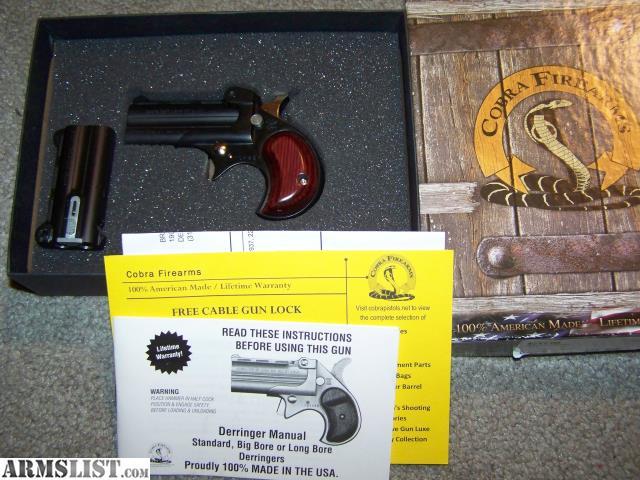 armslist for sale cobra derringer rh armslist com cobra big bore derringer manual Cobra Derringer 38 Special