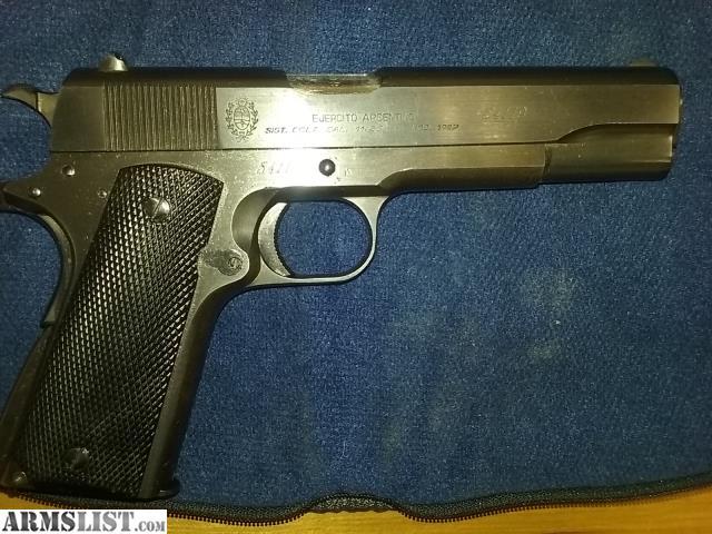 ARMSLIST - For Sale: 1949 Argentine Sist  Colt D G F M
