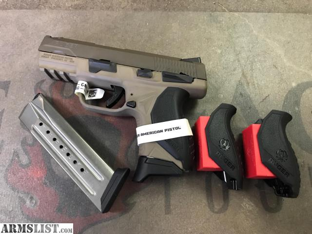ARMSLIST - For Sale: RUGER AMERICAN COMPACT 9MM, PATRIOT BROWN