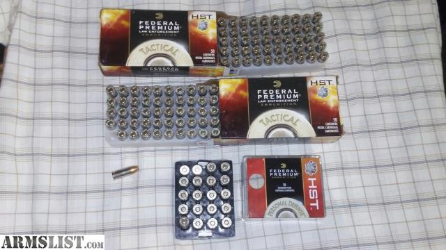 ARMSLIST - For Sale: Federal HST - 9mm - 124 Grain - 120