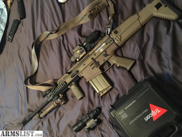ARMSLIST - For Sale: FN Scar 17 FDE like new w/FDE atlas bipod