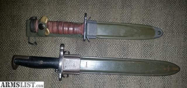 ARMSLIST - For Sale: M1905 bayonet and M4 bayonet